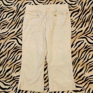 Limited Too Beige Cotton  Caprie Short Pants sz 14
